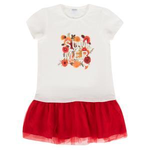 Платье , цвет: белый/красный Fresh Style