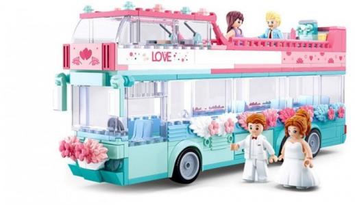 Конструктор  Свадебный автобус (379 деталей) Sluban
