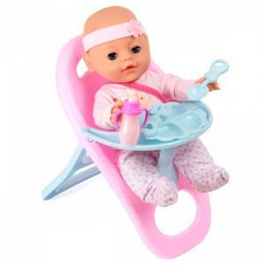Кукла-Пупсик в ползунках со стульчиком для кормления 35 см Lisa Jane