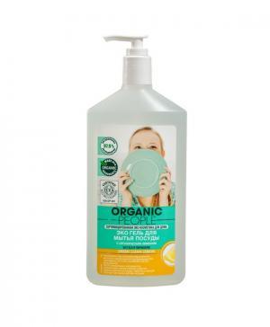 Эко-гель для мытья посуды Green clean lemon, (500 мл) Organic People