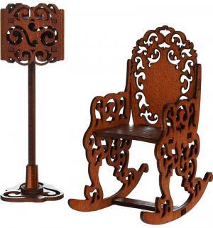 Игровой набор  Качалка и торшер цвет коричневый Яигрушка