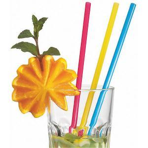 Трубочки для коктейля  широкие 25 шт, разноцветные Susy Card