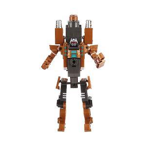 Робот-бластер 2 в 1  Deformation Огенный дракон, 8 зарядов Shantou Gepai. Цвет: серый/оранжевый