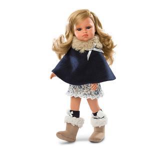 Кукла  Оливия в синем, 37 см Llorens. Цвет: синий