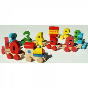Паровозик Цифры QiQu Wooden Toy Factory