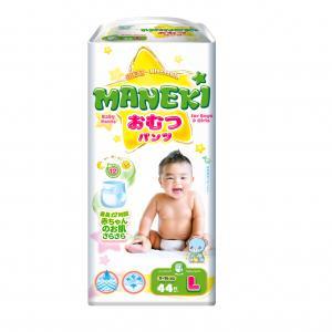 Трусики-подгузники  детские одноразовые, р. 4, 9-14 кг, 44 шт Maneki