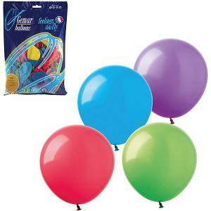 Воздушные шары 9 Веселая затея 100 шт, 23 см (12 цветов пастель)