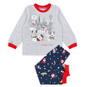 Пижама лонгслив/брюки Веселый малыш