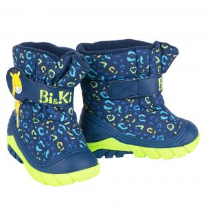 Сапоги , цвет: синий Bi&Ki