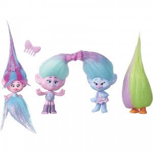 Игровой набор Trolls Модное безумие, 4 шт Hasbro. Цвет: фиолетово-розовый