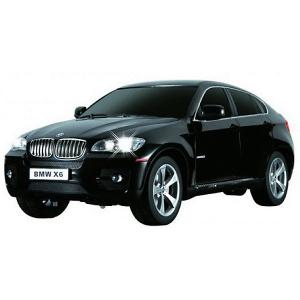 Радиоуправляемая машина  BMW X6 1:24, чёрная Rastar. Цвет: черный