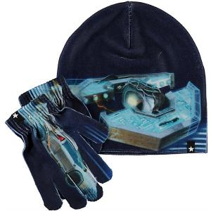 Комплект : шапка и перчатки Molo. Цвет: синий