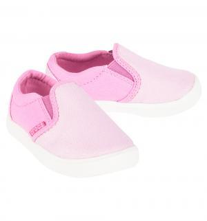 Слипоны  CitiLane Slip-on Sneaker K Carnation/Party Pink, цвет: розовый Crocs
