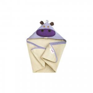 Полотенце с капюшоном  Бегемот 3 Sprouts. Цвет: фиолетовый