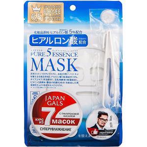 Маска для лица  Pure5 Essence с гиалуроновой кислотой, 7 шт Japan Gals