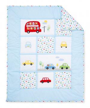 Одеяло  лоскутное В дороге, цвет: синий Mothercare