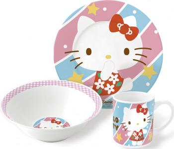 Набор посуды керамической Hello Kitty №4 (3 предмета) Stor