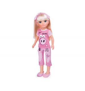 Кукла  Милые питомцы Нэнси блондинка в розовой пижаме Famosa