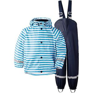 Комплект Didriksons Slaskeman Printed: куртка и полукомбинезон. Цвет: синий