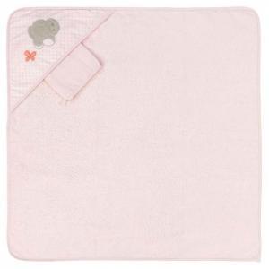 Полотенце-уголок Adele & Valentine с варежкой Nattou