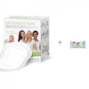 Одноразовые прокладки для бюстгальтера Day&Night Pads 30 шт. и влажные салфетки L 20 Ardo