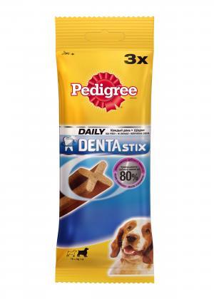 Лакомство  Denta Stix для взрослых собак средних и крупных пород, 77г Pedigree