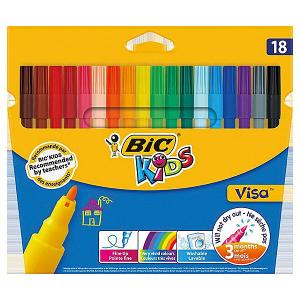 Фломастеры  Kids Visa, 18 цветов BIC