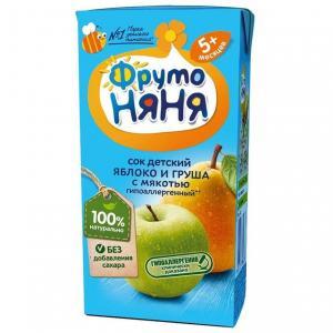 Восстановленный сок  груша-яблоко, 200 мл ФрутоНяня