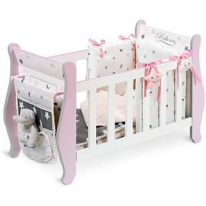 Кроватка для куклы , серия Скай, 63см DeCuevas. Цвет: розовый/белый