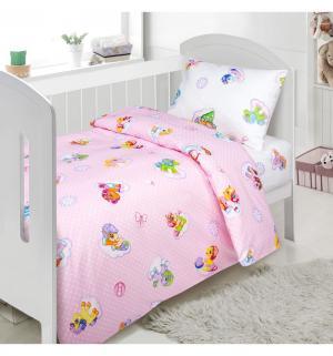 Комплект постельного белья ка Бусинка роз., цвет: розовый 3 предмета 4 Артпостель
