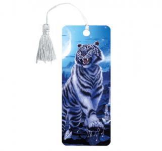 Закладка для книг пластик  3D Белый тигр Brauberg