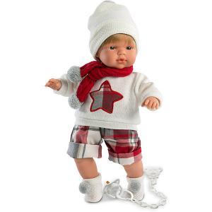 Кукла  Саша 38 см, со звуком Llorens. Цвет: разноцветный