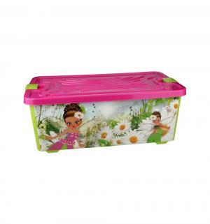 Контейнер для игрушек  Феи, цвет: розовый/салатовый Альтернатива