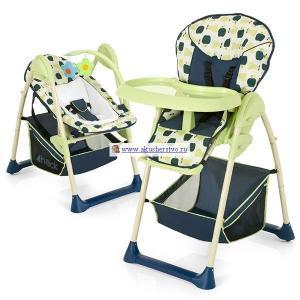 Стульчик для кормления  Sitin Relax + шезлонг новорожденного Hauck