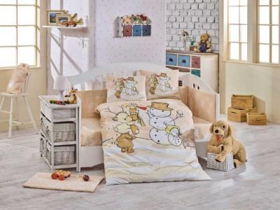 Постельное белье  Snowball 100х150 (5 предметов) Hobby Home Collection