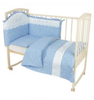 Комплект постельного белья  Нежность 6 предметов бортик, цвет: фиолетовый BabyPiu