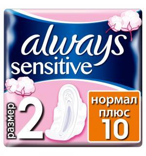 Прокладки  Sensitive ultra normal +, 10 шт Always