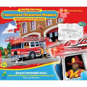 Пазл Гигантская Пожарная машина, 30 деталей, двухсторонний, Learning Journey