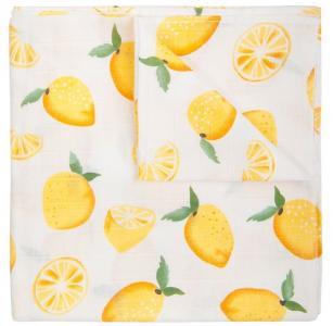 Пеленка  муслин Лимон 120х120 см Сонный гномик