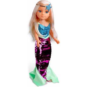 Кукла  Нэнси русалочка, 42 см Famosa. Цвет: голубой