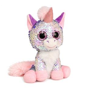 Мягкая игрушка  Единорог Жемчужина 15 см цвет: розовый Fancy