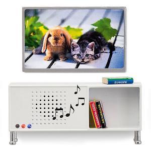 Мебель для домика  Музыкальный центр и телевизор Lundby. Цвет: разноцветный