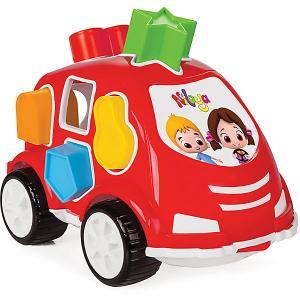 Машинка с геометрическими фигурами Нилоя  Shape Sorter Car Pilsan. Цвет: красный