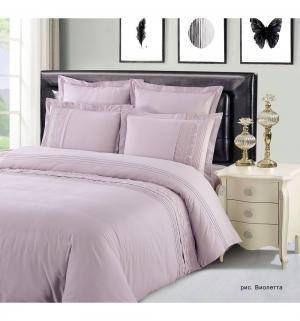 Комплект постельного белья  2-х спальный/нав. 50х70 Виолетта, цвет: фиолетовый Василиса