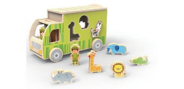 Деревянная игрушка  Каталка-сортер Сафари Classic World