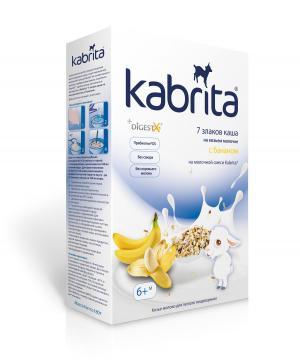 Каша  молочная 7 злаков с бананом на козьем молоке 6 месяцев 180 г Kabrita