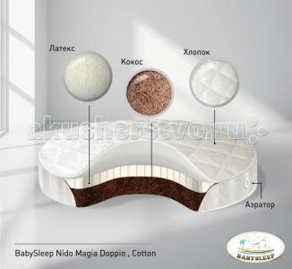 Матрас  Doppio Cotton в колыбель 75x75 см Babysleep