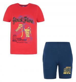 Комплект футболка/шорты , цвет: красный Tiger baby & kids