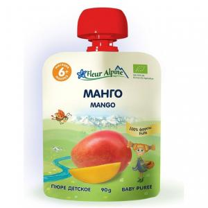Пюре  манго с 6 месяцев, 90 г Fleur Alpine