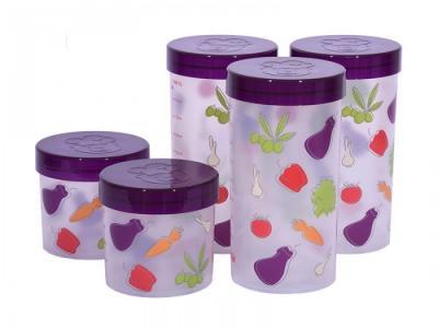 Набор eмкостей для жидких и сыпучих продуктов 5 шт. JA55177 Oursson